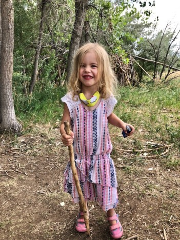 9. Marleigh and her walking stick