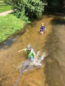 18. Luke and Tuli in creek