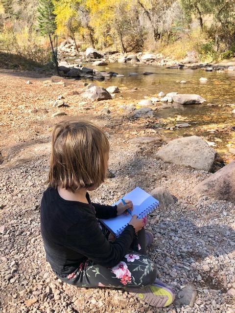 Sketching along the creek